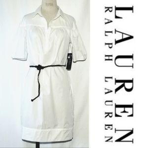 🆕️ Ralph Lauren cotton pocket belted shirt dress